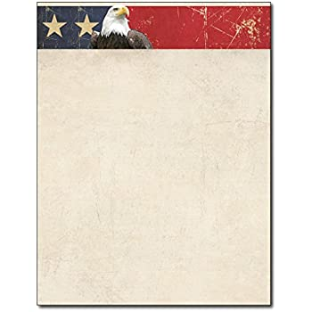 amazon com patriotic stationery variety 4 designs 80 sheets