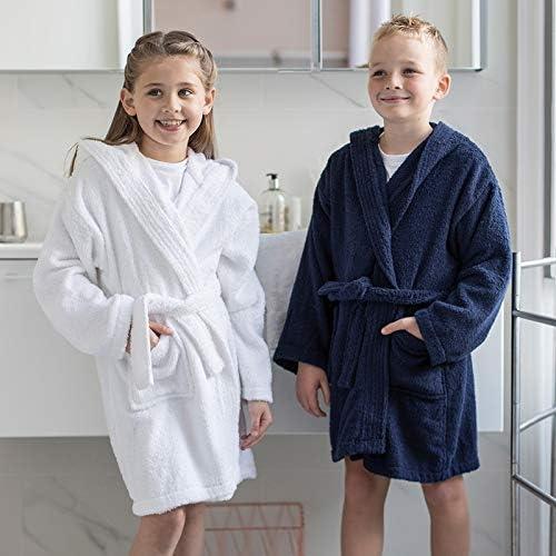 CC020J Unisex Cotton kimono Style Robe Dressing Comfy Co Kids Robe