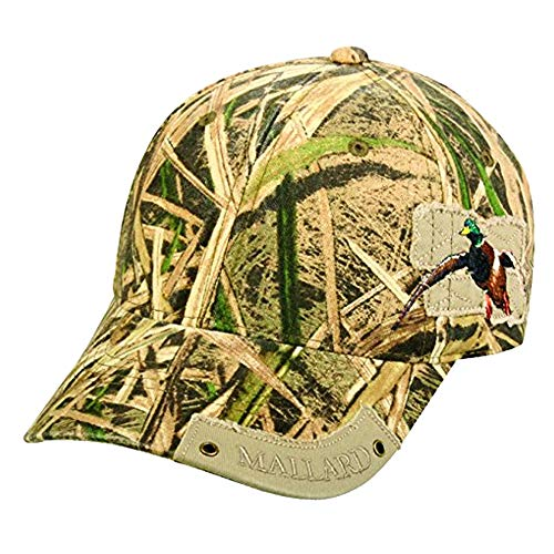 Mossy Oak Shadow Grass Blades Duck Camoflauge Distressed Patch Visor Cap Hat 214,Hunting Camo,One Size Fits Most
