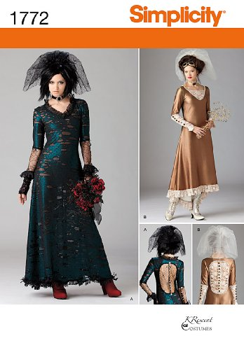 Simplicity 1772 Misses' Steampunk Costume P5 (12-14-16-18-20)