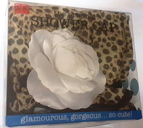 DCI Animal Print Glam Shower Cap, White Flower - Glam Cap