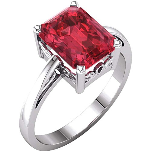 Gold Chatham Ruby Ring - 6