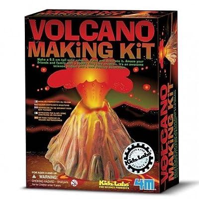 4M - Kit fabriquer un Volcan Éruption volcanique loisir créatif Enfant 8 ans +
