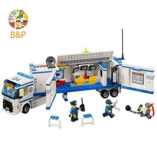PampasSK Blocks - Legoing Mobile Police Station 60044 394 Building Blcok Set Brick Compatible 10420 Toys for Children Gift 1 PCs