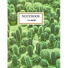 Cactus Notebook: Green Cactus Garden Succulent Cactus Journal Notebook 110 Page Composition Book Diary Planner Cactus Lover Gifts (8.5 x 11 inch)
