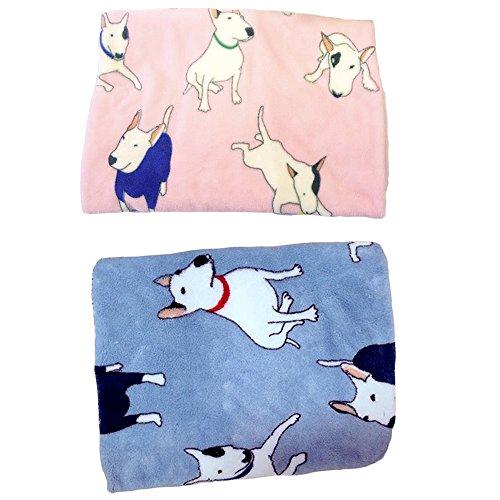 ALLISA-ndro-2-en-1-deux-en-un-Bleu-Rose-Couverture-avec-motifs-Bull-Terrier-chauds-et-doux-pour-animal-comme-chien-ou-chat-en-non-tiss-de-corail-75-x-100-cm