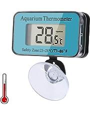 Delicacy Termometro Digitale per Acquari, Termometri a Ventosa Impermeabile, Termometro Sommergibile con Batteria, Strumento Indicatore di Temperatura per Acquario/Terrario/Acqua, da -50 ° C a 70 ° C