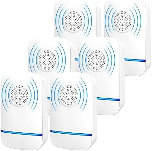 Ultrasonic Pest Repeller, 【6 Pack】 Electronic...