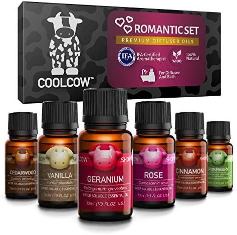 COOLCOW - Juego de aceites esenciales para difusores, aromaterapia ...