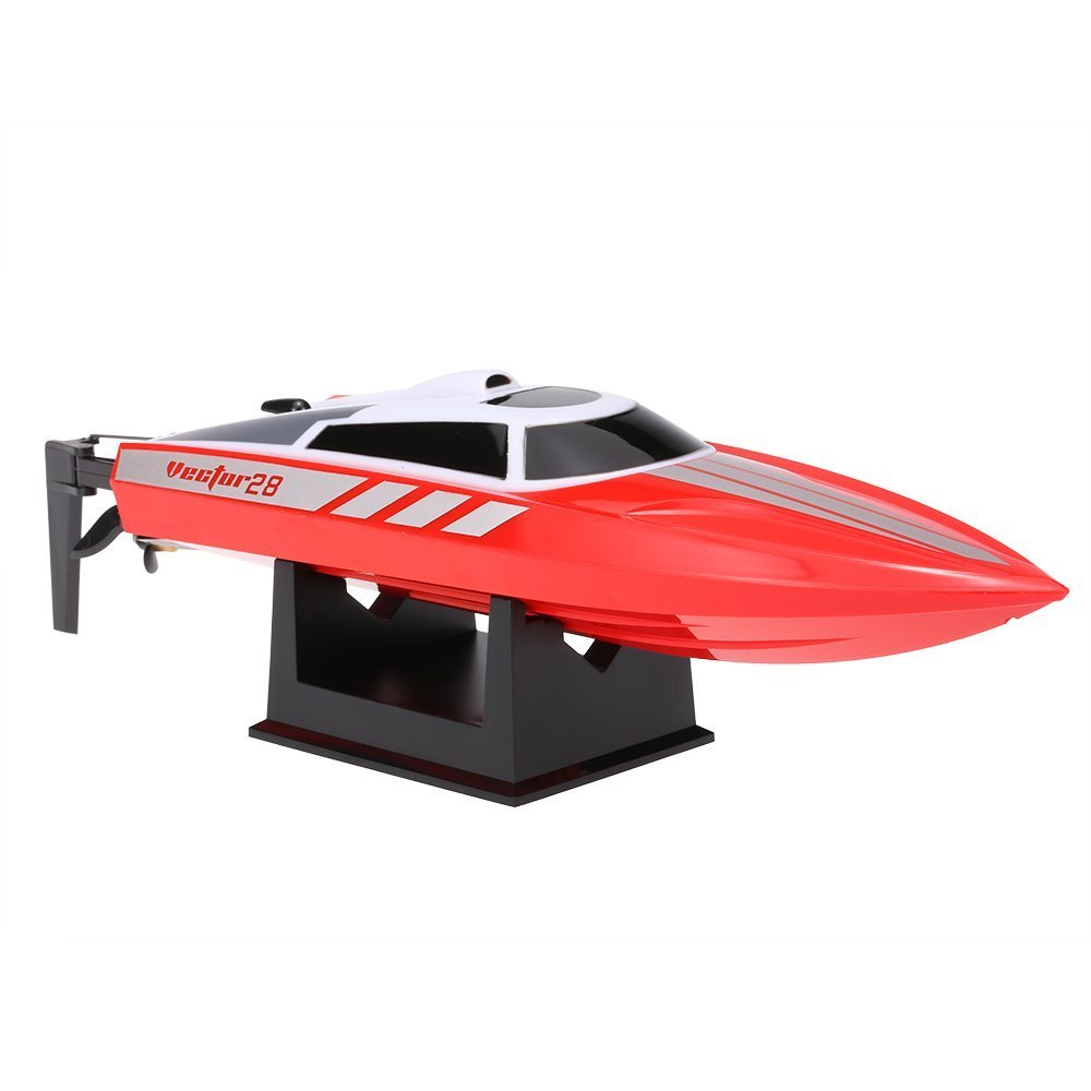Only Work In The Water FMT Radio Remote Controlled 2.4GHz High Speed 30km//h Electric RC Boat for Pools Bathtubs Lakes Best Gifts for Kids and Adults Red
