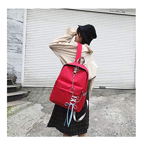 Cinta Moda Capacidad Gran De Waveni Estudiante Mochila Red2 color Secundaria Diario Viaje Escuela Cadena Zackback Black2 w0XxEYq