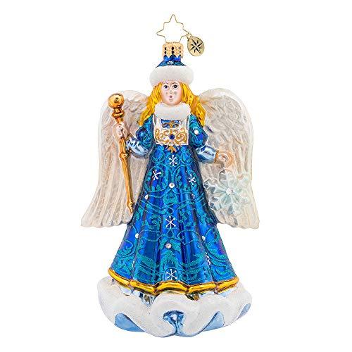 Christopher Radko Snow Angel Christmas Ornament, 6.750, Multicolor
