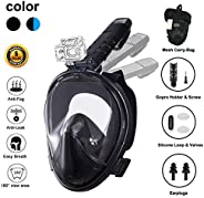 Full Face Snorkel Mask New Version 2.0, Ufanore Diving Mask Set, Foldable 180° Panoramic View, Free Breathing,
