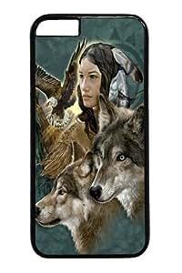 For HTC One M8 Phone Case Cover Wild Spirit Maiden Native American PC For HTC One M8 Phone Case Cover BlackKimberly Kurzendoerfer