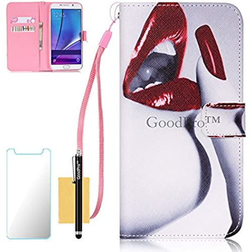 S7 Edge Case, Galaxy S7 Edge Case, GoodPro(TM); (Pictures Wallet) (Vermilion Border) Wallet Case Wristlet PU Leather For Samsung Galaxy S7 Edge Sales