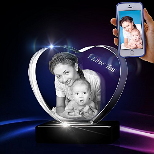 3D Heart Crystal - Unique Memorable Small, Medium, Large Love Gift by 3D Innovation
