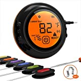 Wireless Meat Grill Thermometer Bluetooth Adapter for iOS&Android, Digital Wireless Thermometer Cooking Food with 6 Probes, Meat Thermometer Bluetooth for Smokers,Kitchen Grilling,Oven and Outdoor BBQ For Sale