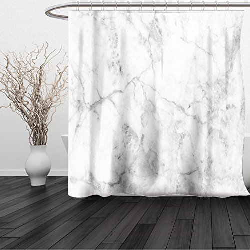 HAIXIA Shower Curtain Marble Fractured Lines Stained Grunge Surface Effects Ceramic Style Background Artful Motif Grey Dust (Dark Bronze Golden Retriever)