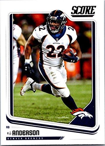 2018 Score #97 C.J. Anderson Denver Broncos Football Card