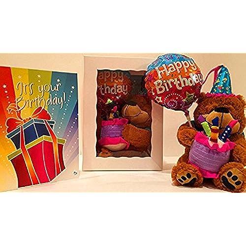Oversized greeting cards amazon birthday package birthday teddy bear with oversized birthday card and birthday balloon bookmarktalkfo Choice Image