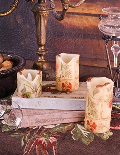 (Victorian Trading Co Elizabethan Rose Flicker Candles Flameless Set of)