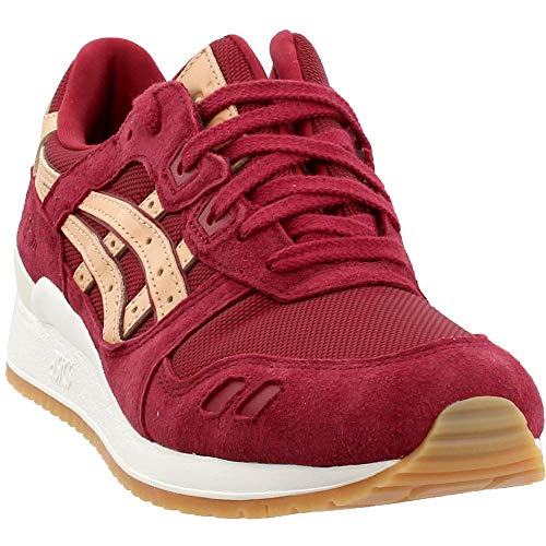 Gel Lyte III Mens (Vegi Tan Pack) in Burgundy/Tan by Asics, 8.5