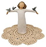 Willow Tree Pets Themed Figurine with Westbraid Doily (Happiness)