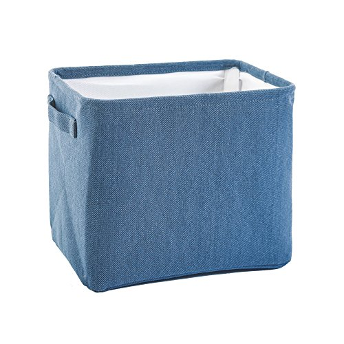 Tur Bath Storage Bin with Handles, Basket Organizer for Towels, Magazines, Toys (Blue)