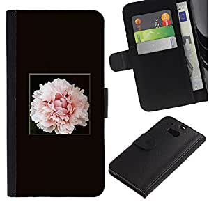 All Phone Most Case / Oferta Especial Cáscara Funda de cuero Monedero Cubierta de proteccion Caso / Wallet Case for HTC One M8 // Light Pink Flower Blossom