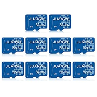 JUANWE 10 Pack 32GB Micro SD Card, Memory Card 32GB C10 TF Card High-Speed Card for Smartphone/Bluetooth Speaker/Tablet/PC/Camera (10 Pack)
