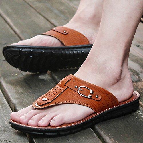 CoréenPortableChaussons ChaussuresDePlageOccasionnelsEtD'Antidérapage 39 HommesSandales L'Été ZHANGJIA Brun67885 qaHtnpRwx