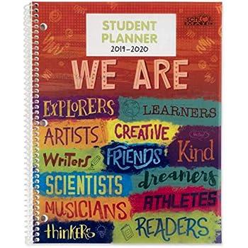 Amazon.com : BookFactory 2019-2020 Doodle Student Planner ...