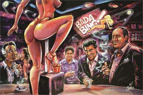 "36.5/"" x 24.5/"" Bada Bing by Art by Dano Laminated Poster"