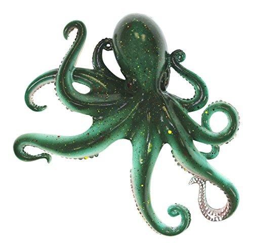 Coastal Sea Creature Green Octopus 9 Inch Wall Decor Resin Plaque (Octopus Resin compare prices)