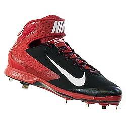 Nike Mens Huarache Pro Mid Metal Blackwhitevarsity Red Baseball Cleat 13 Men Us