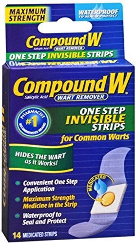 Compound W One Step Invisible Strips 14 Each (Pack of 6) by Compound W