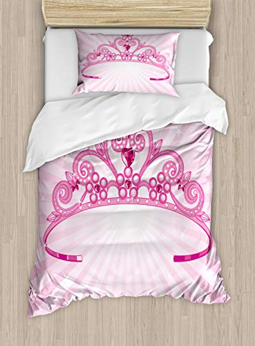 Ambesonne Kids Duvet Cover Set Twin Size, Beautiful