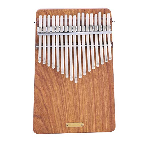 17 keys Kalimba Thumb Piano kit,Portable Thumb Piano Pterocarpus Erinaceus Wooden Body with Tuning Hammer,Pickup,Decorative Tassel Chain,Tremolo chain,Carry Bag by Yosoo-
