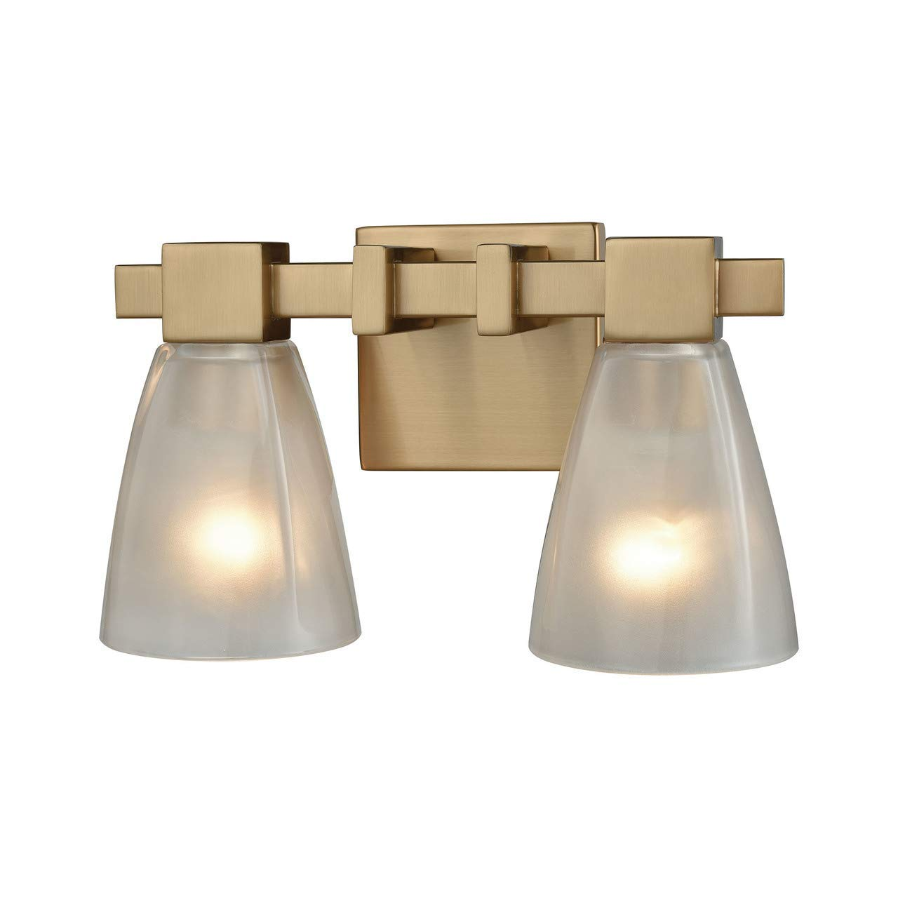 Elk lighting 11991 2 vanity lighting fixtures 8 x 12 x 7 brass amazon com