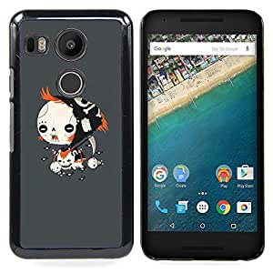 - Goth Emo Girl - - Cubierta del caso de impacto con el patr??n Art Designs FOR LG Google Nexus 5X Queen Pattern