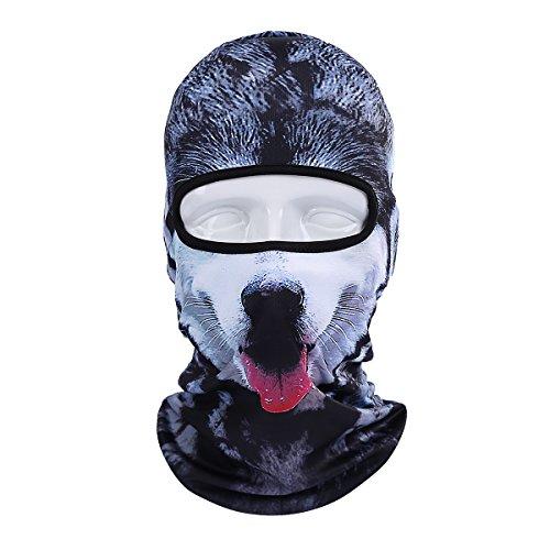 (Runtlly Unisex Animal Face 3D Print Ski Balaclava Full Face Cycling Mask Ski Mask)