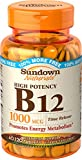Sundown Naturals Vitamin B-12 1000 mcg, 60 Time Release Tablets