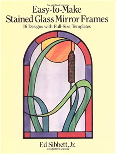amazon com easy to make stained glass mirror frames 16 designs