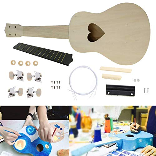 - Kuerqi | Ukulele Starter Kit Beginner Learning - Hawaii Guitar DIY Wooden Kit Musical Instrument for Kids Gift - Excellent Parent-Child Interaction Instrument !