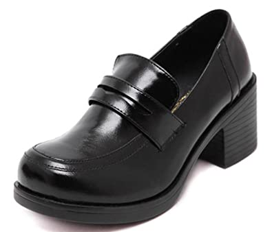a60780897f6 ACE SHOCK Women s Girl s Lolita Low Top Japanese Students Maid Uniform  Dress Shoes (5