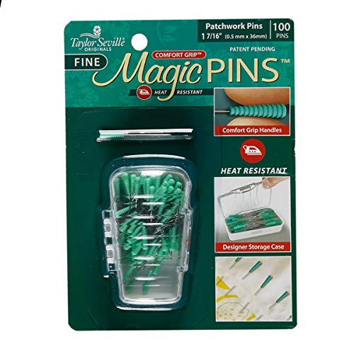 Fabric Tailor Mate Magic Fine Pins Patchwork 100pc Multi