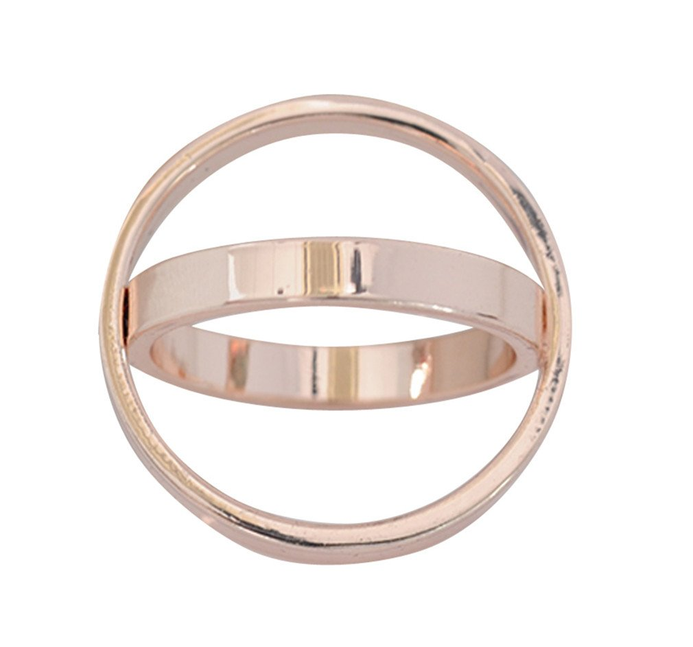 Maikun Scarf Ring Modern Simple Design Triple-ring Scarf Ring Gift for Valentine's Mother's Day ring0001-5-S