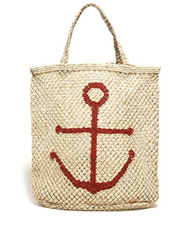 The Jacksons Women's Women's Natural-Red Tote Bag Beige by THE JACKSONS