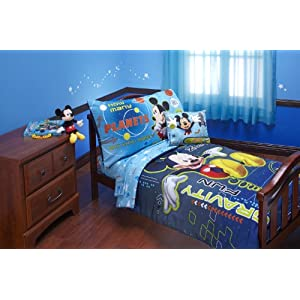 Disney 4 Piece Mickey Mouse Space Adventure Zero Gravity Toddler Set, Blue 3