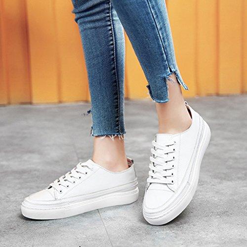 36 Casual Piatto Colore Bianca Dimensioni Sportive Da Scarpe Calzature Studente Donna Primaverili Hwf q0R7nw